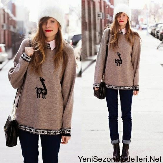 Yeni Moda Bayan Triko Kazak Modelleri