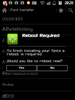 cara ganti font android