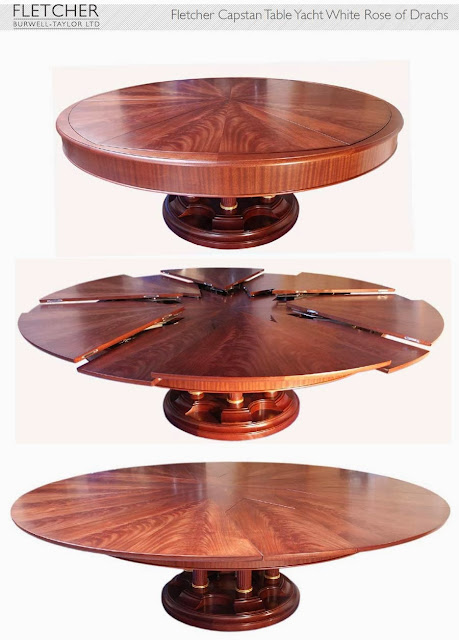 Fletcher Capstan Table Yacht White Rose of Drachs