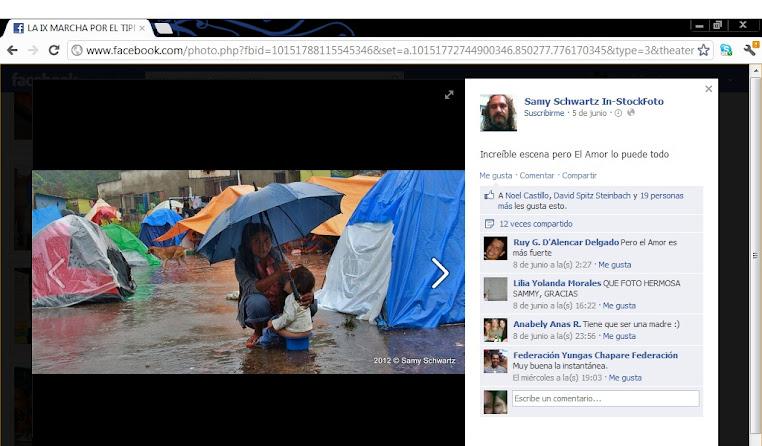 Lloviendo en el campamento de la IX marcha