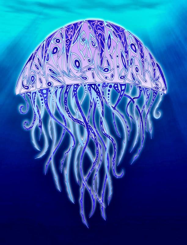 La terreur des plages - Les méduses ! =O Deuxi%C3%A8me+m%C3%A9duse+colori%C3%A9e+avec+fond+web