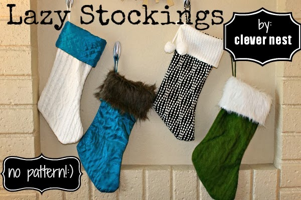 how to make custom stockings the lazy way #clevernest #fabulously_festive #christmas_mantle