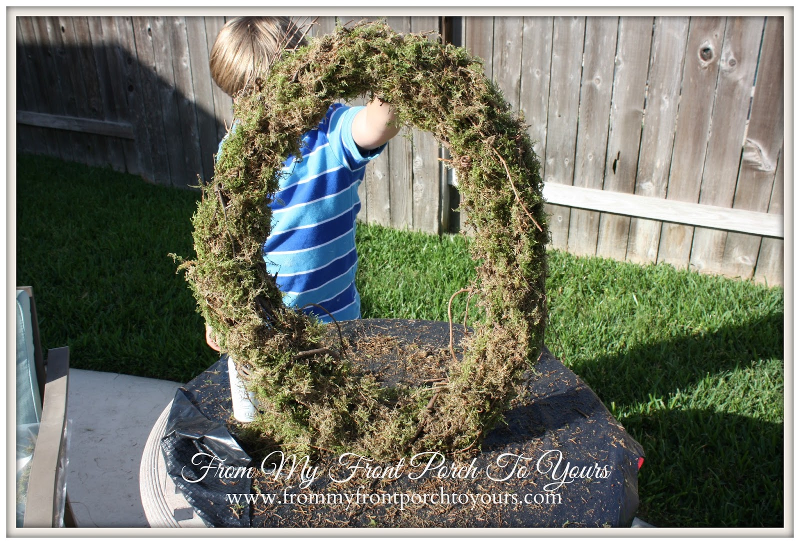 From My Front Porch To Yours- DIY Moss Wreath