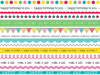 SRM Stickers Border Birthday Card by Shelly – Birthday Cards Borders