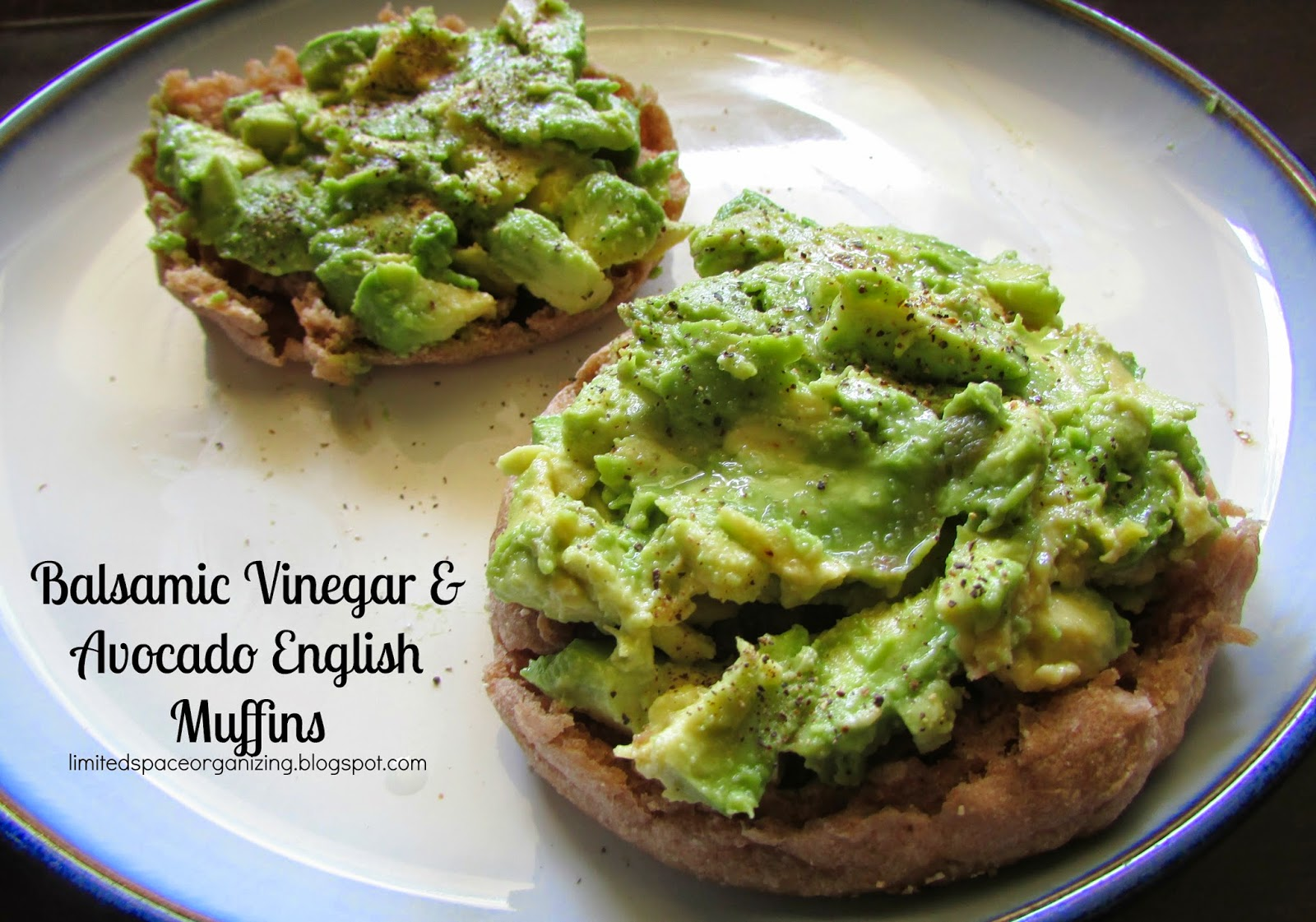Balsamic Vinegar and Avocado English Muffins