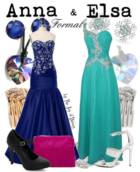 Frozen, Anna & Elsa, Disney Fashion, Disney Prom
