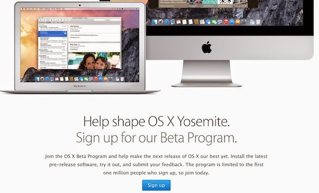 Apple OS X Yosemite Beta Starts Today!