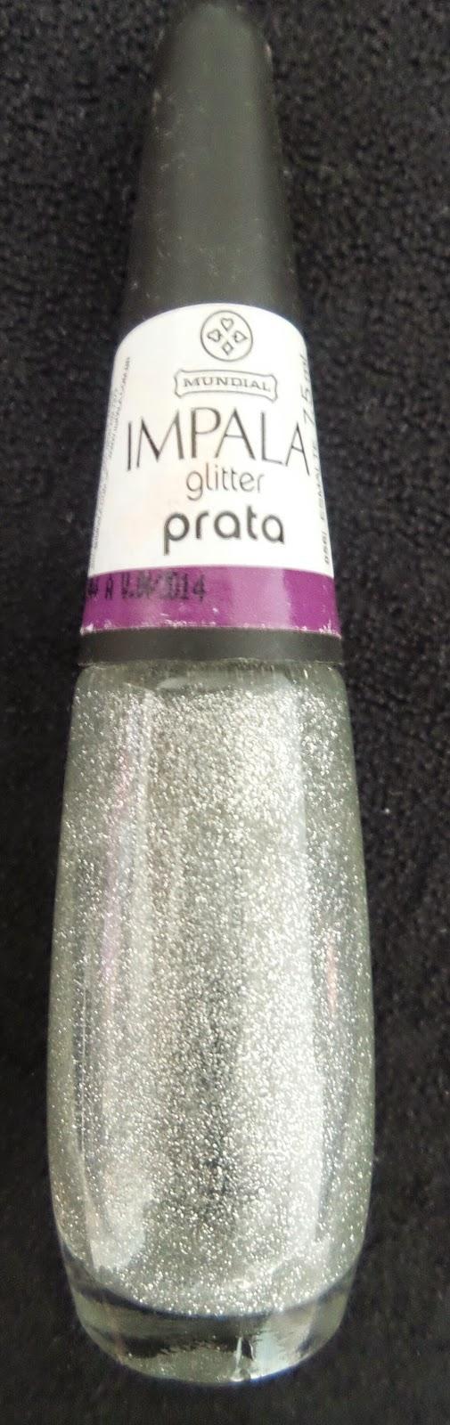 Esmalte Impala Glitter Prata