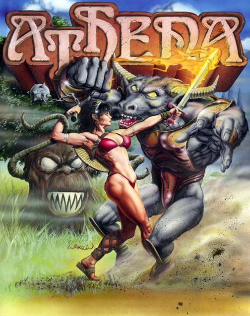 Athena box art Bob Wakelin