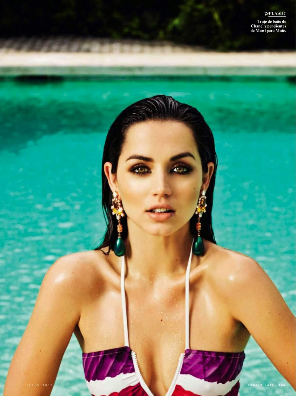 Ana De Armas For Vanity Fair Magazine, Spain, July 2014
