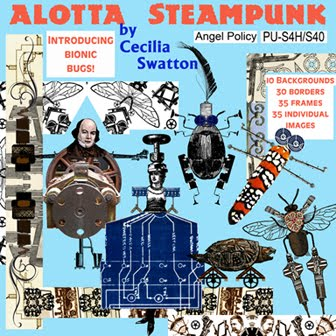 "Brand-New ""Alotta Steampunk"" digital clipart collection"