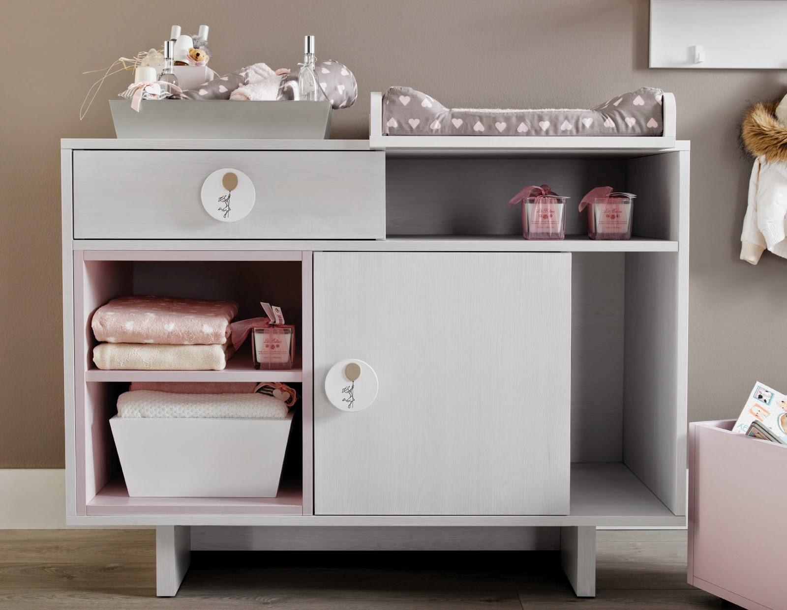 Muebles ros c moda cambiador una pieza imprescindible en la habitaci n del beb - Cambiador bebe para comoda ...