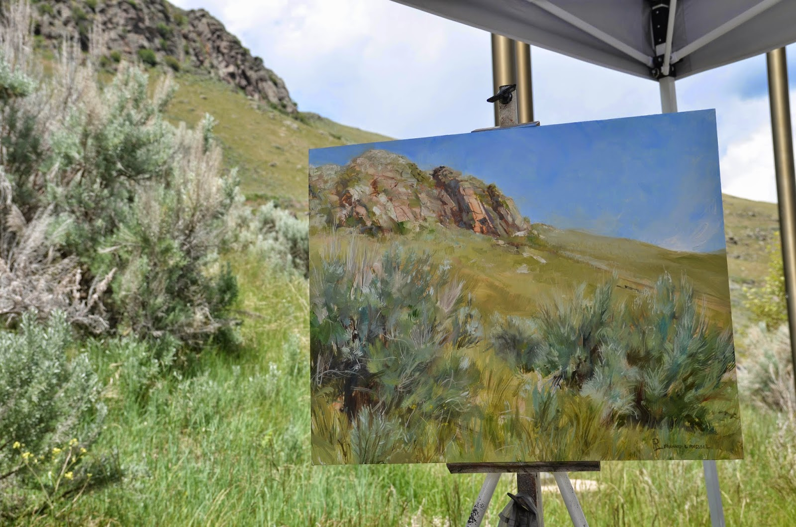 East Gros Ventre Butte by Richard Lance Russell at Plein Air Fest Jackson Hole