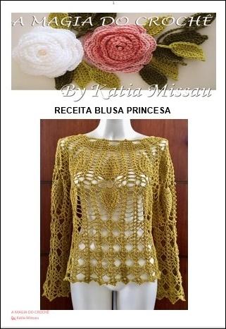 Lançamento! Receita Blusa Princesa