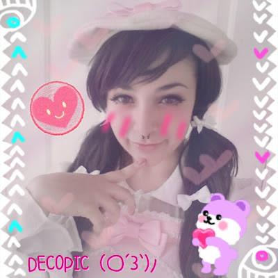 Kawaii purikura girl lolita japan iphone android mobile app @ lace a la mode