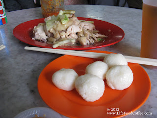 Chung Wah coffee shop famous with chicken rice ball