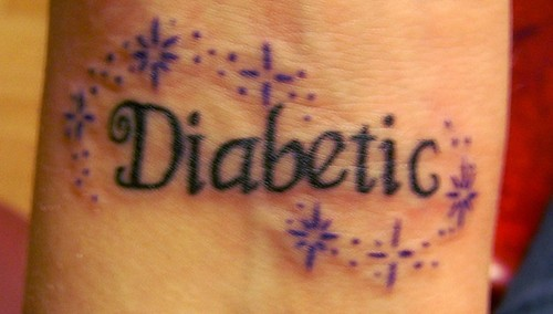 Diabetic tattoo on wrist