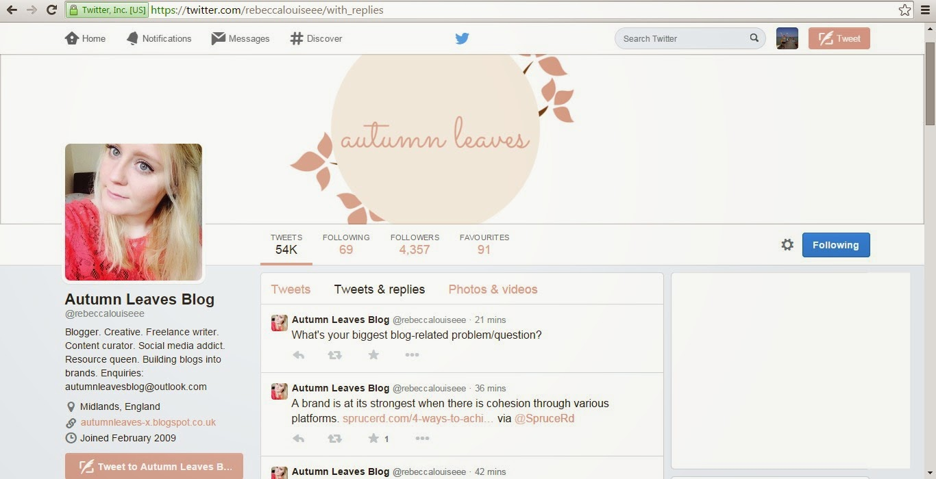 Twitter accounts you should follow Autumn Leaves Blog