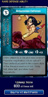 Card for Amazonian Defense at Superhero City