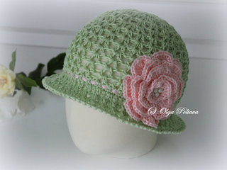 Cloche Summer Hat Pattern, Size 1-2 Years Old, $3.45