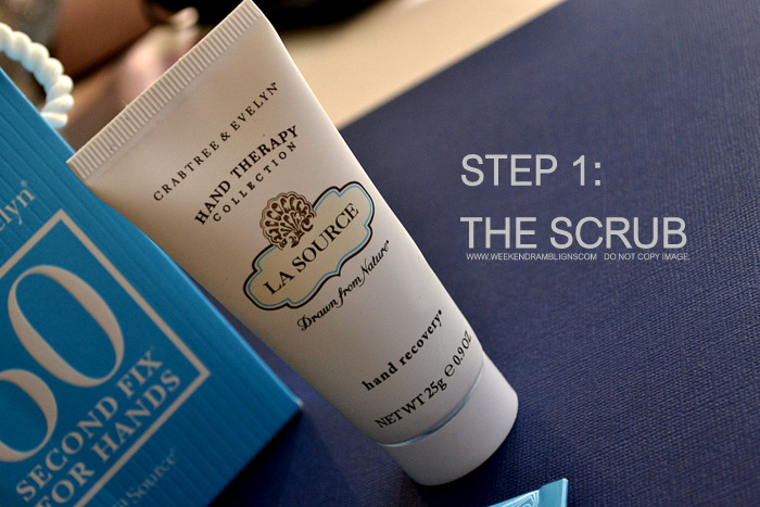 Crabtree Evelyn La Source 60 Second Fix Hands Therapy Recovery Scrub Cream Skincare Indian Beauty Makeup Blog Reviews Ingredients How to Use