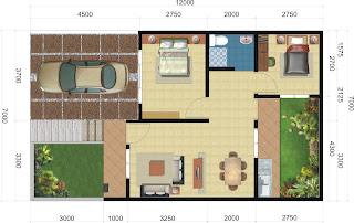 Desain Denah Rumah 1