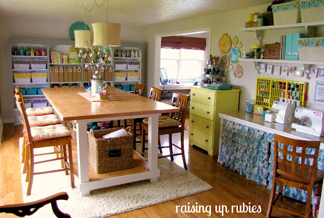eclectic craft room by Raising up Rubies via Funky Junk Interiors