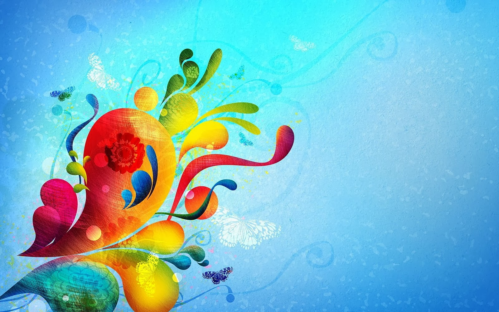 Wings Of Summer Original >> wallpapers: Colorful Swirls Wallpapers