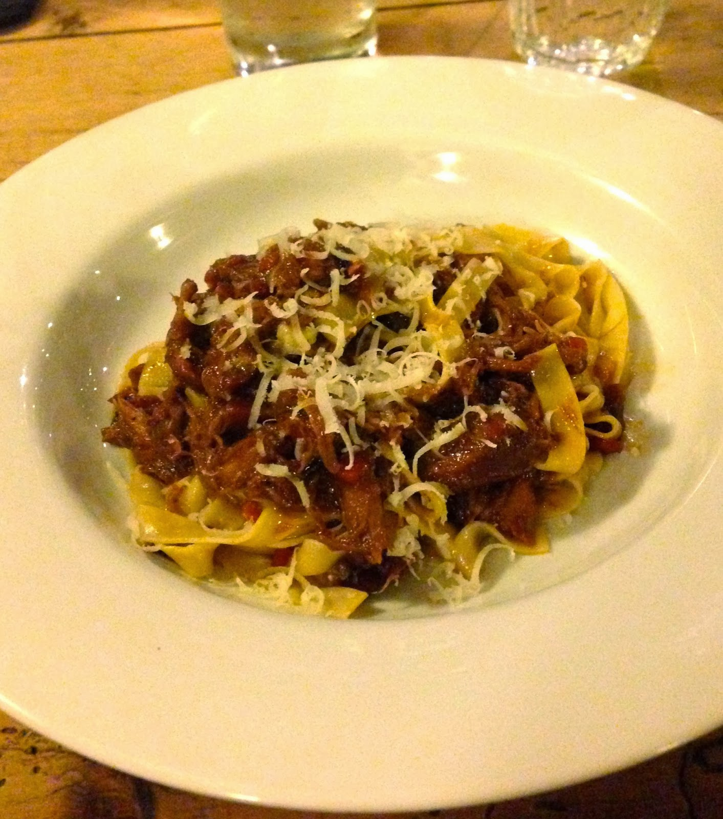 Wild rabbit ragu at Y Polyn