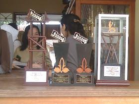Piala Juara Umum lomba Tunas  di SMKN 1 Bogor