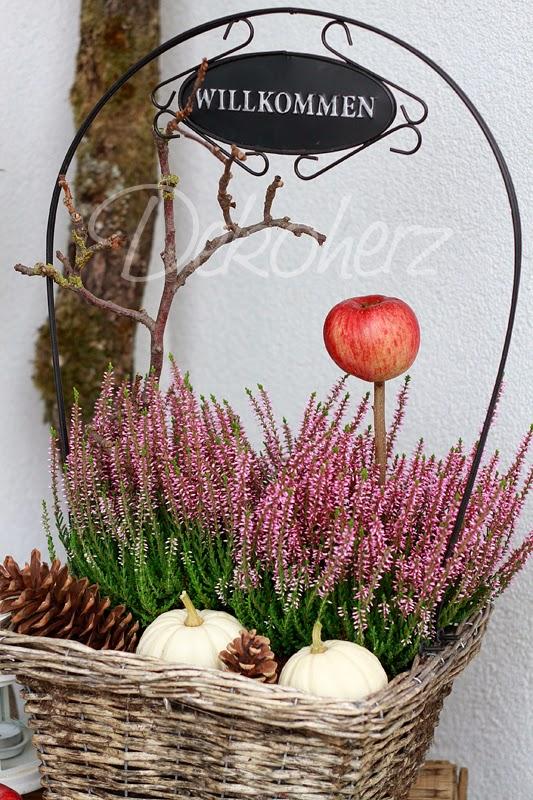 Herbst Deko für draußen – 30 Ideen für schönen Hauseingang