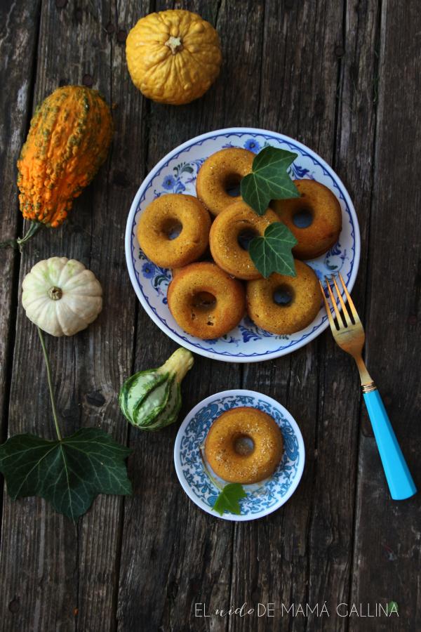 pumpkin and espelt donuts