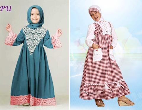 contoh baju gamis anak perempuan