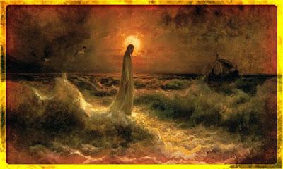 Jesus Christ walking Easter