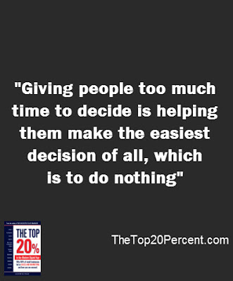 Giving people too much time to decide is helping them make the easiest decision of all, which is to do nothing