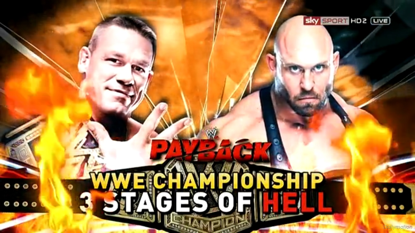 Wwe championship three stages of hell match john cena c vs ryback