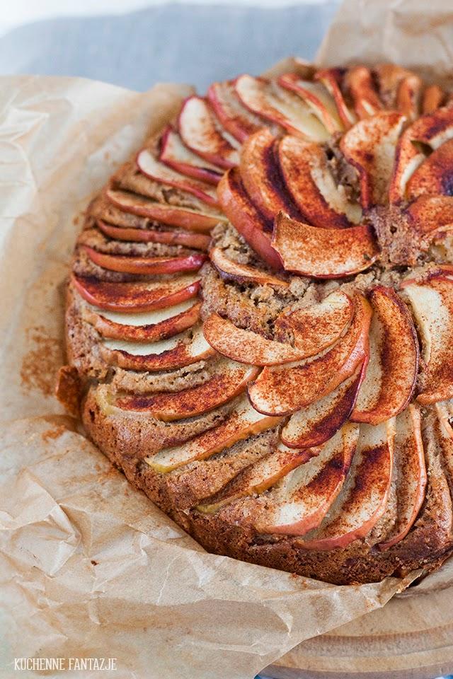 ciasto, cynamonowe, jabłkowe, z jabłkami, jabłecznik