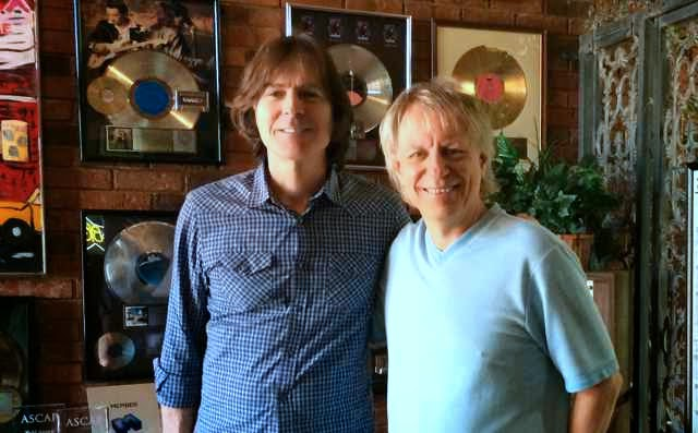 Big Star drummer Jody Stephens and Bobby Owsinski at Ardent