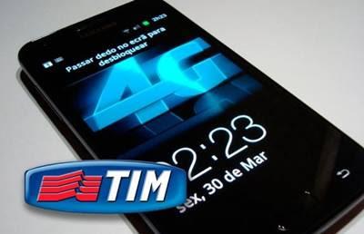 TIM 4G para aparelhos compatíveis com redes LTE