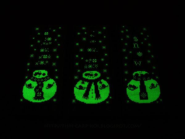 Snowman Trio - Michelle Lutzen - Stitchy Kitty Вышивка крестом - Снеговички Chilly, Milly, Willy Оформление - Пинкип Светится в темноте