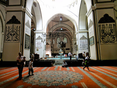 Fountain in the middle of the Grand Mosque of Bursa Turkey
