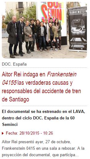 Frankenstein 04155 se presentó ayer en la Seminci 2015 de Valladolid