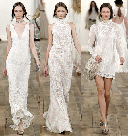 there were so many beautiful white lace dresses in his collection