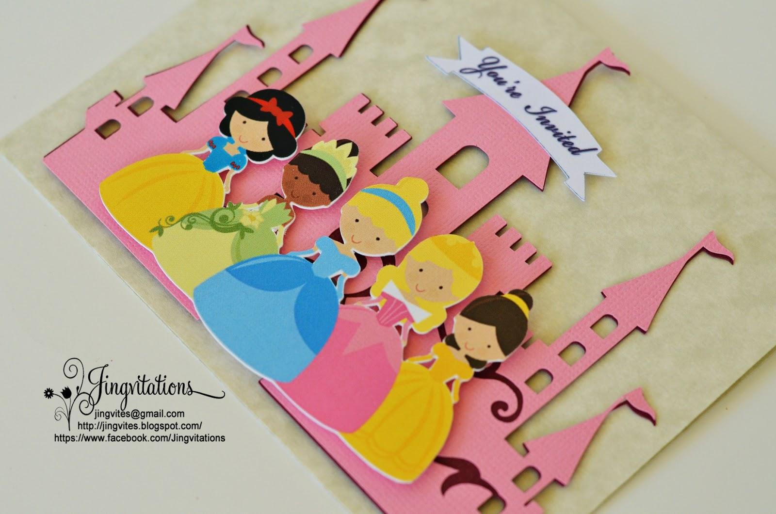 Birthday and Baby Shower Invitations: Handmade Princess Tiana, Snow ...