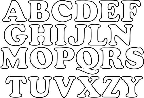 Moldes de letras grandes para imprimir - Imagui
