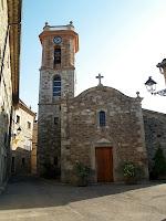 Façana principal de l'església de Santa Maria de Collsuspina