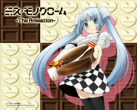 Miss Monochrome — The Animation — started in TV Tokyo midnight every Tuesday from 1 October 2013
