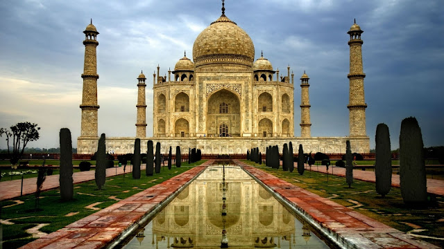 taj mahal scenery HD wallpaper