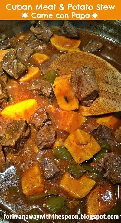 Meat Stew Cuban Potato Carne con Papa