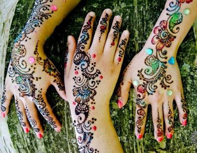 Arabic Colorful Henna Designs